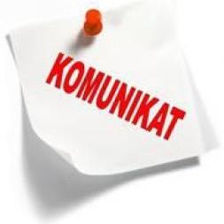 Obrazek newsa Komunikat