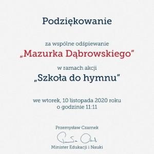 """Obrazek newsa Zakończenie akcji """"Szkoła do hymnu""""."""