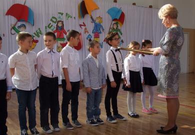 Obrazek galerii Ślubowanie klas pierwszych.