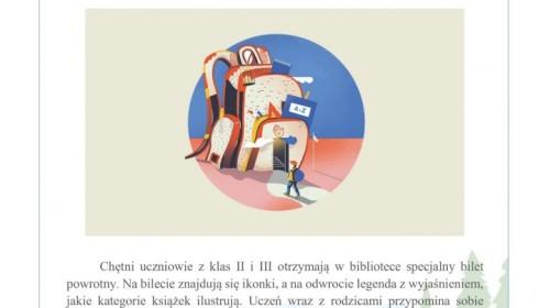 Obrazek galerii Bilet powrotny do biblioteki