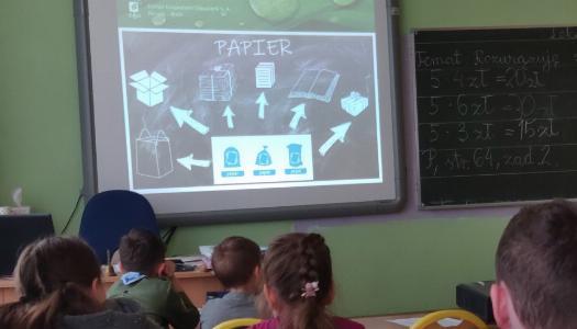 Obrazek newsa Warsztaty ekologiczne z przedstawicielem Zakładu Gospodarki Odpadami.