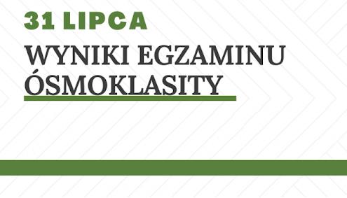 Obrazek newsa WYNIKI EGZAMINU ÓSMOKLASISTY 2020 r.